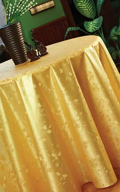 Inci Gold & Silver Pvc Tablecloths